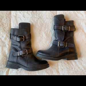 Steve Madden motorcycle caveat boot